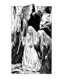 Crones (Revenge of the Vampire, Illustration no. 11) Premium Giclee Print by Martin Mckenna