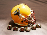 Arizona State University - Arizona State Helmet and Championship Rings Poster