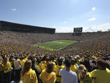 University of Michigan - Blue Skies over Michigan Stadium Print