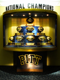 University of Pittsburgh - National Championship Trophies Photo by Will Babin