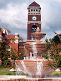University of Mississippi (Ole Miss) - Fountain and Chapel Photographic Print