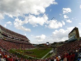 University of Maryland - Jets Fly over Byrd Stadium, Maryland Football Photographic Print