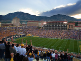 University of Colorado - Game Day at Folsom Field Fotografisk tryk af Tim Benko