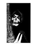Skeletal Strangler (Revenge of the Vampire, Illustration no. 16) Premium Giclee Print by Martin Mckenna