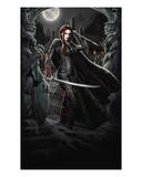 Vampire Hunter Premium Giclee Print by Martin Mckenna