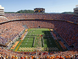 University of Tennessee - Pride of the Southland Performs at Neyland Stadium Fotografisk tryk