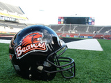 Oregon State University - Beavers Helmet Sits at Reser Stadium Fotografisk tryk