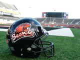 Oregon State University - Beavers Helmet Sits at Reser Stadium Photo