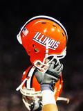 University of Illinois - Illinois Football Helmet Photographic Print