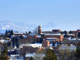 Washington State University - Snow Covered Washington State Campus Photographic Print