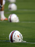 University of Miami - Miami Helmets Photographic Print