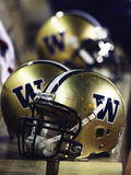 University of Washington - UW Helmets in a Row Photographic Print