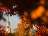 Wake Forest University - The Chapel in Autumn Fotografisk tryk