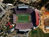University of Mississippi (Ole Miss) - Aerial of Vaught-Hemingway Stadium Photographic Print