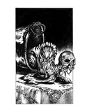 Proto Zombie (Revenge of the Vampire, Illustration no. 18) Premium Giclee Print by Martin Mckenna
