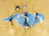 University of North Carolina - The Tip: UNC vs Duke in the Dean E. Smith Center Photographic Print