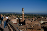 Siena view from Duomo roof shows Mangia Tower Premium Giclee Print by Charles Bowman