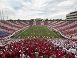 University of Arkansas - War Memorial Stadium Striped Photographic Print