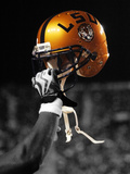 Louisiana State University - Gold LSU Helmet Fotografisk tryk