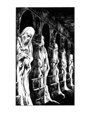 Corridor of Corpses (Revenge of the Vampire, Illustration no. 12) Premium Giclee Print by Martin Mckenna