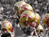 Florida State University - Florida State Football Helmets Photographic Print by Mike Olivella