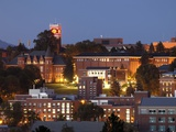 Washington State University - Washington State Campus at Night Fotografisk tryk