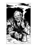 Old Grundy (Revenge of the Vampire, Illustration no. 06) Premium Giclee Print by Martin Mckenna