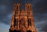 Reims Cathedral France west front Premium Giclee Print by Charles Bowman