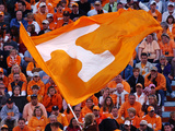 University of Tennessee - Tennessee Flag Flies on Game Day at Neyland Stadium Photographic Print