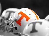 University of Tennessee - Football Helmets Photographic Print