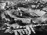 University of Washington - Vintage Aerial View of Husky Stadium Photographic Print