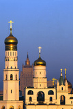 Church towers and crosses of the Kremlin, Moscow Premium Giclee Print by Charles Bowman