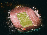 University of Arkansas - War Memorial Stadium Aerial Photographic Print by Gary Yandell