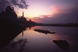 Taj Mahal at sunset Photographic Print by Charles Bowman