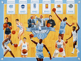 University of North Carolina - Tribute to 100 Years of Carolina Basketball Photographic Print