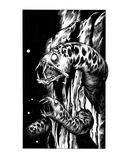 Rock Eels (Revenge of the Vampire, Illustration no. 08) Giclée-Premiumdruck von Martin Mckenna