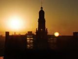 University of Cincinnati - Sun Rises on TUC Fotografisk tryk