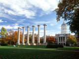 University of Missouri - Missouri Columns and Jesse Hall Photographic Print
