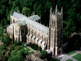 Duke University - Duke Chapel from the Air Photographic Print by Durham Herald-Sun