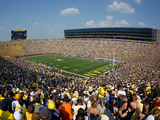 University of Michigan - Blue Skies Above the Big House Photographic Print