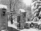 Boston College - Main Gate in Winter Foto