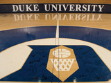 Duke University - 2006 Duke Team Signs Center Court Photographic Print