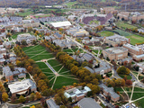 University of Maryland - Maryland Campus Aerial Fotografisk tryk