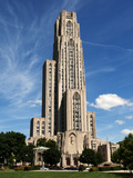 University of Pittsburgh - Cathedral of Learning Fotografisk tryk af John Beale