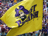 East Carolina University - Flying the Purple and Gold Photographic Print by Rob Goldberg