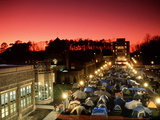 Duke University - Night Falls Upon K-Ville Photographic Print