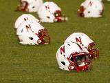 University of Nebraska - Husker Helmets at Memorial Stadium Fotografisk tryk