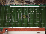 University of Colorado - Buffs Spelled Out on Folsom Field Fotografisk tryk