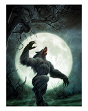 Howl of the Werewolf Premium Giclee Print by Martin Mckenna