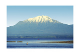 Chile Lake District Calbuco volcano Llanquihue Photographic Print by Charles Bowman